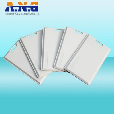 2.45GHz RFID Active Card with Logo Printing, Alien/NXP Chip, Made of PVC, Available in White Color