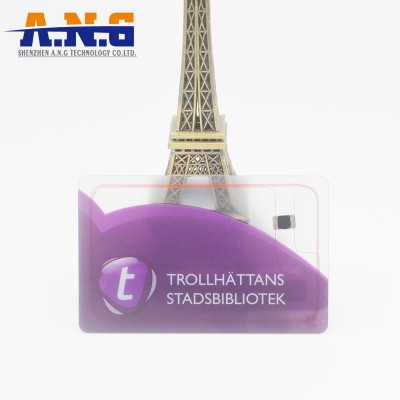 Tarjetas de plástico transparente claro de tarjetas impresas personalizado para regalo del festival