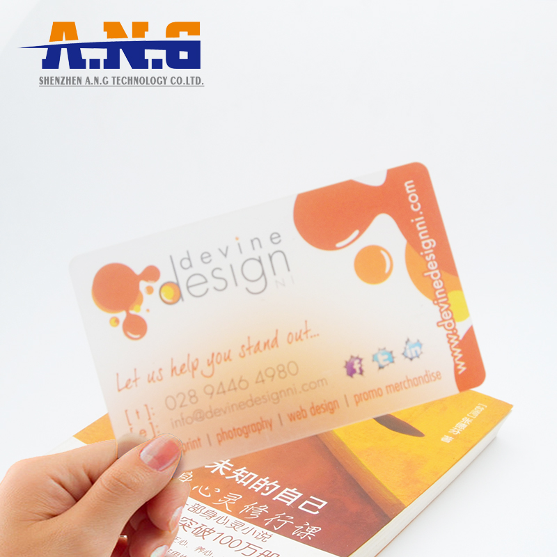 Clear Transparent Rfid Smart Business Cards 13.56mhz Ntag213