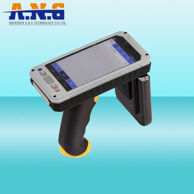 Android 4.4 NFC Rfid Handheld Reader Wireless With Barcode Scanner / Camera