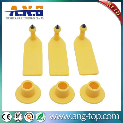 ISO 18000-6c Long Range UHF RFID Animal Ear Tag For Cattle Sheep
