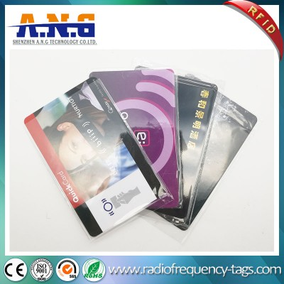 13,56 RFID réinscriptible ISO CR80 Cartes en PVC blanc avec impression
