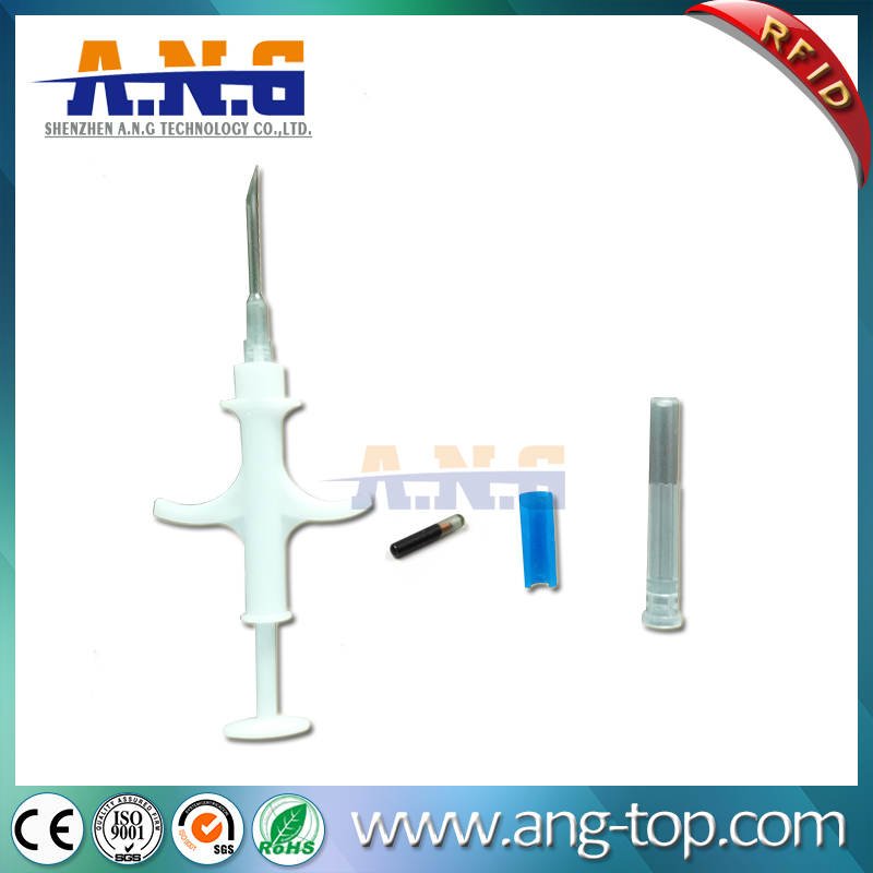 EM4305 LF Passive RFID Animal Glass Tracking Tag With Syringe