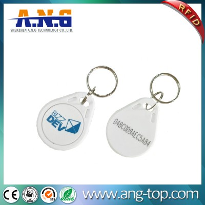 Customized ABS 13,56 Colorful RFID stampabile Keyfob Transponder
