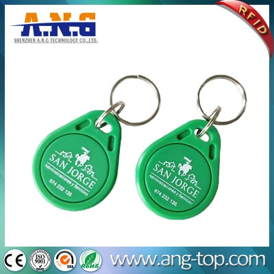 IP54 ABS EM4200 Rfid Key Fob for time recording