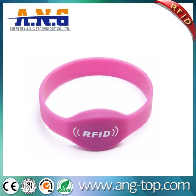 Diameter 60mm RFID Chip Bracelets With OEM Printing