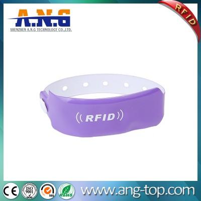Promocional presente RFID plástico PVC Vinyl Pulseira