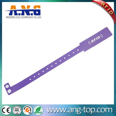 Disposable Soft PVC Rfid Event Wristbands For Sporting / Racing