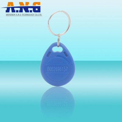 13.56Mhz Promixity ABS Rfid Key Tags For Door / MIFARE S50 Key Tag Printing