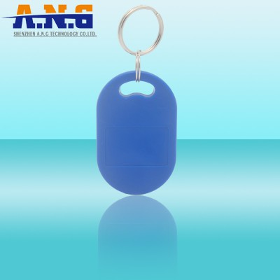 Security Personalized Key Tag Printing High Frequency Blue Rfid Key Chains Mifare