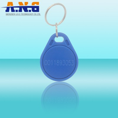 Tk4100 Em4200 Rfid ABS Key Tags Blue Color With Lf Chips