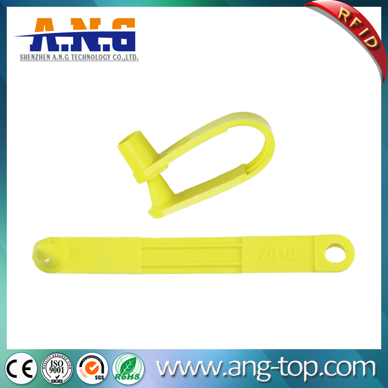 TPU Yellow RFID Animal Tracking Tags For Sheep Goat
