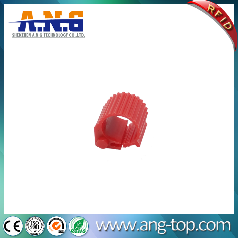 RED ABS Pigeon Foot Racing Ring printable RFID tags