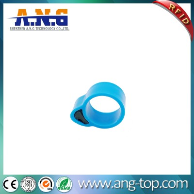 Dia17.5mm Ring Band Passive RFID Tags For Tracking Chicken Duck Goose