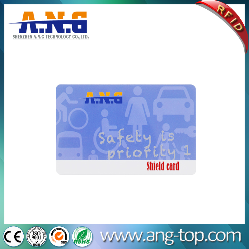 Hot Stamping Custom Printing RFID Blocker Card For Wallet Security