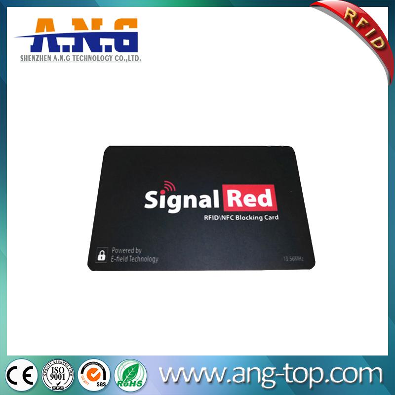 Custom Printing E-Shield Card RFID Protection RFID Blocking Card