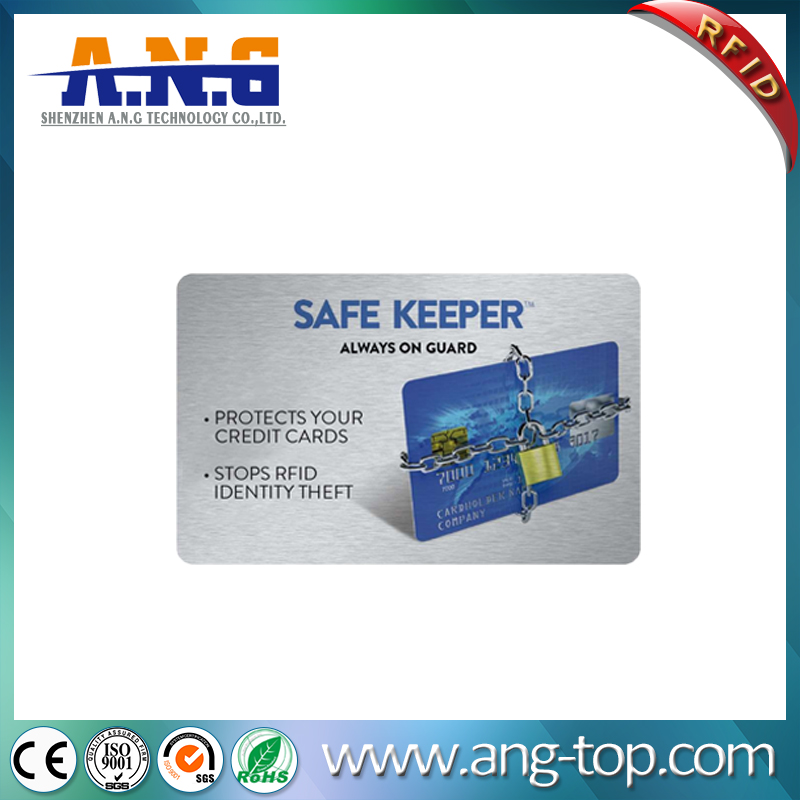 Printed High Security Wallet Blocking RFID Smart Card Protectors