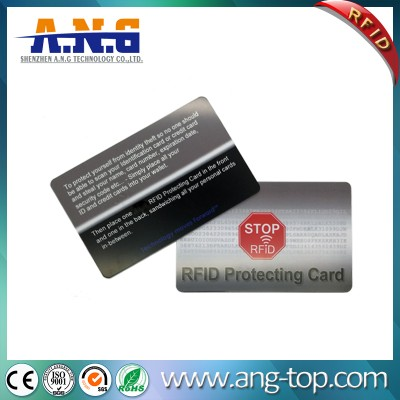 CMYK Printing RFID Blocking Cards For Electronic Theft Protecting