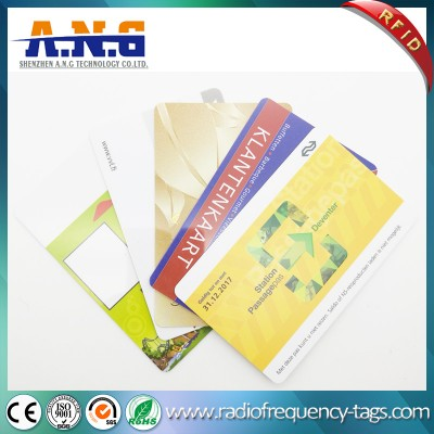 ISO14443 Cr80 Plastic RFID PVC Smart Card with Magnetic Strip