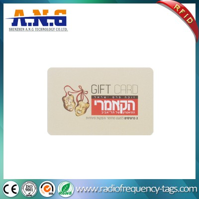 Cmyk Printing ISO14443A Cr80 Plastic RFID Smart Gift Card