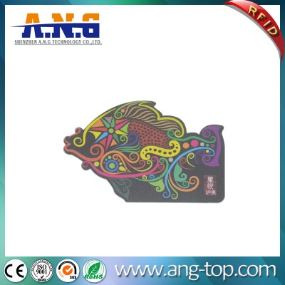 Customized Printing PVC Irregular Shape Business Card with Frosted