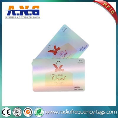 13.56MHz ISO14443A PVC Contactless Smart Card with Hologram Overlay