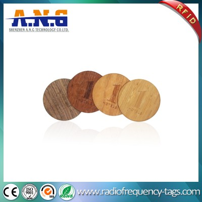 Eco-Friendly Custom Antique Circle Cutting Wooden Business NFC Card / blank card