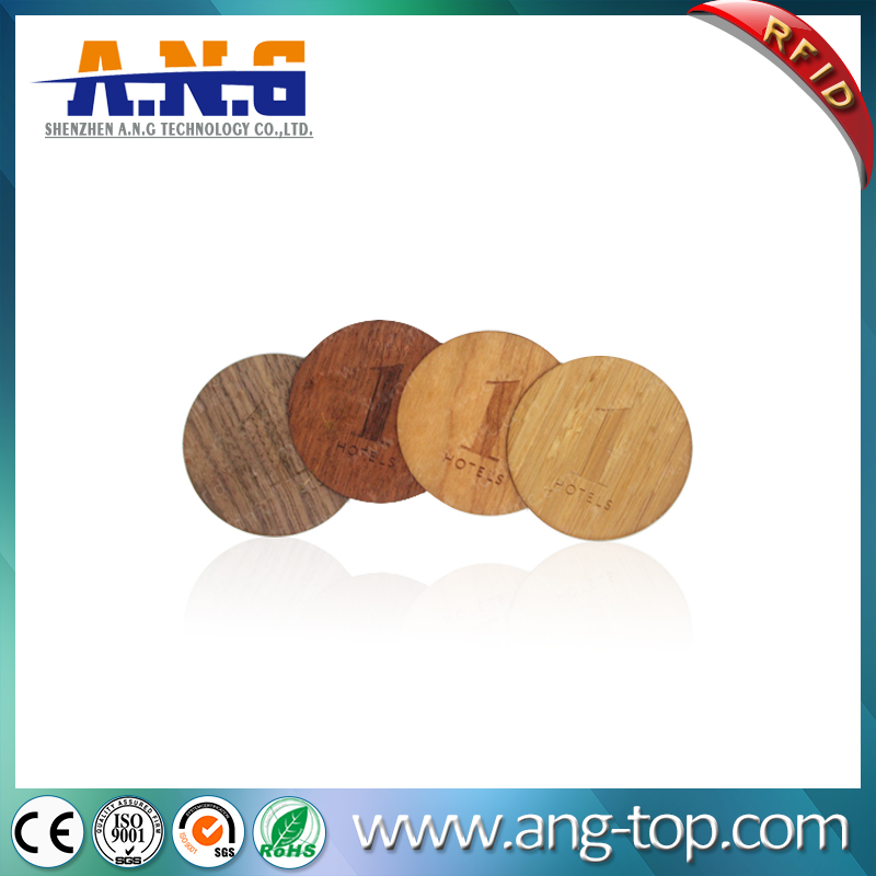 Eco-Friendly Custom Antique Circle Cutting Wooden Business RFID Card