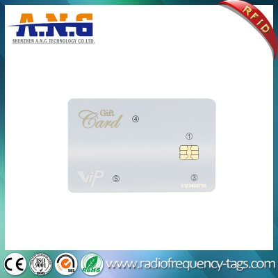 ISO7816 CR80 Printing contact smart card , Smart IC Card with SLE4442 Chip