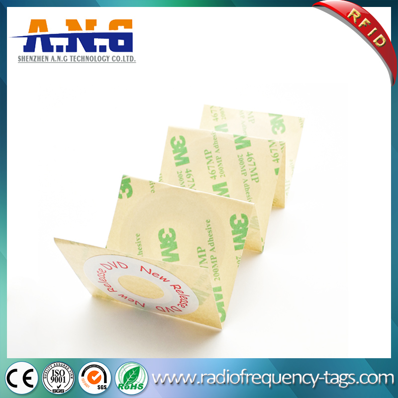 40*16mm Anti-Theft UHF Passive RFID CD DVD Label Sticker