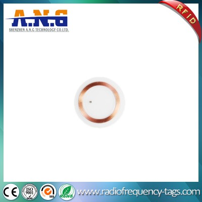 13.56MHz PVC Round Transparent MIFARE 1k RFID Coin Tag