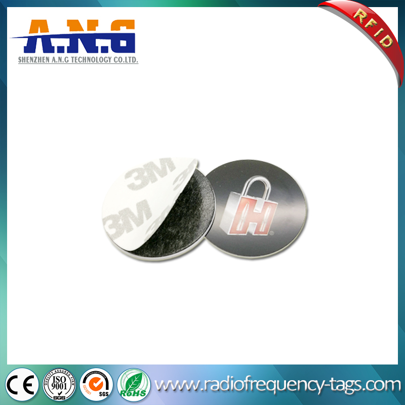 125kHz Small Coin Tag Lf RFID Disc Tag with 3m Adhesive