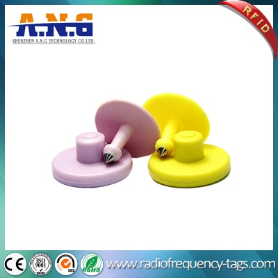 125KHz EM4305 TPU RFID Passive Animal Ear Tag For Cattle Sheep