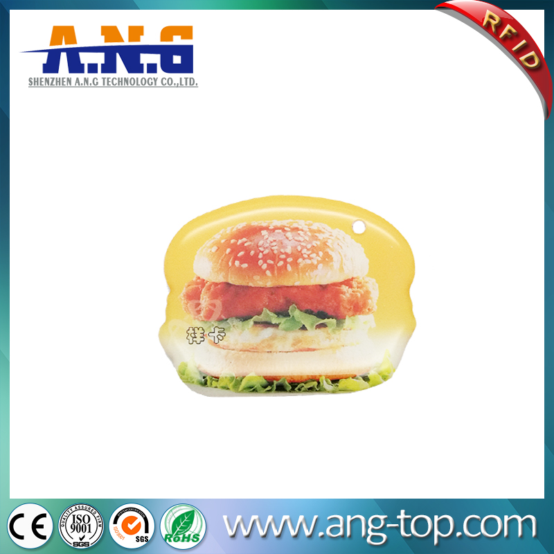Durable Contactless RFID Epoxy Tag Payment Resin Keychains