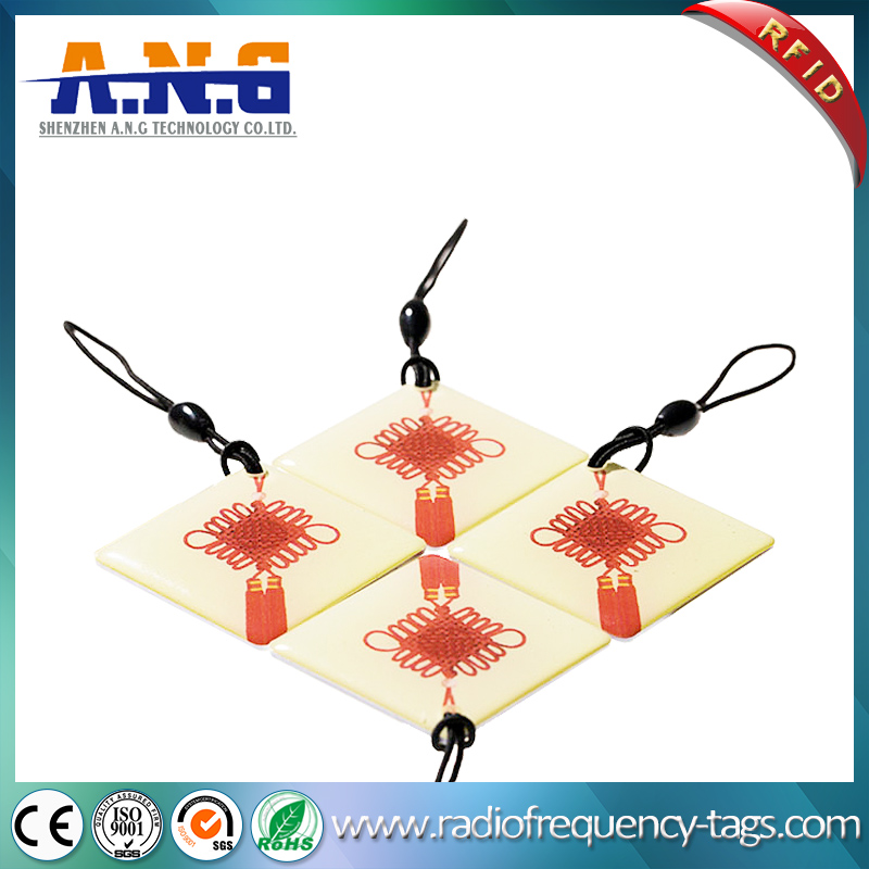 Waterproof RFID Epoxy Resin Crystal Key Tag for Loyalty Cards