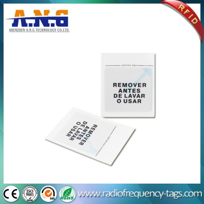 Fabric Woven Washable Passive Clothing Label RFID Laundry Tag