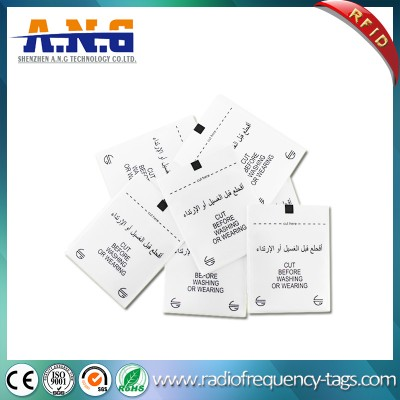 Washable Printed UHF Woven RFID Garment Hang Tag