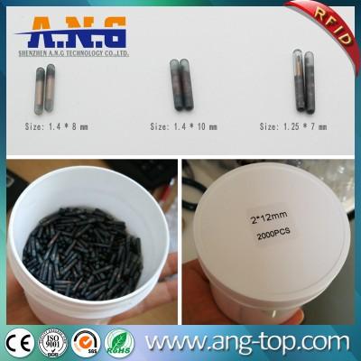 134,2kHz Animal Microchip RFID Tag tubo di vetro per l'animale domestico pista