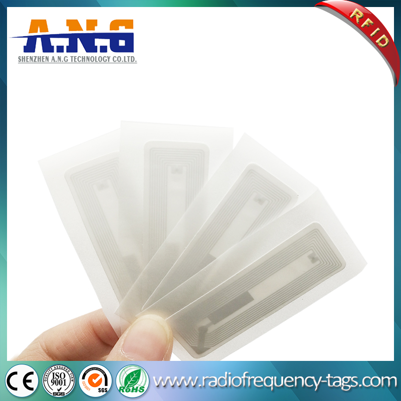 Hf RFID Tags Ultralight EV1 4k Adhesive Paper Label 56*18mm