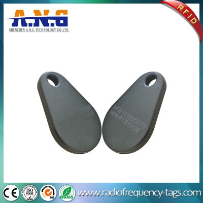 ISO14443A Security Pear Glassfiber Rfid Key Tag For Identification