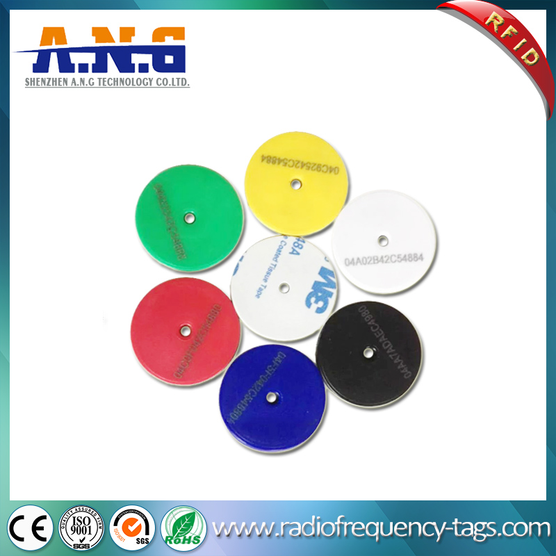Silk Screen ABS Passive MIFARE RFID Disc Tags RFID Token