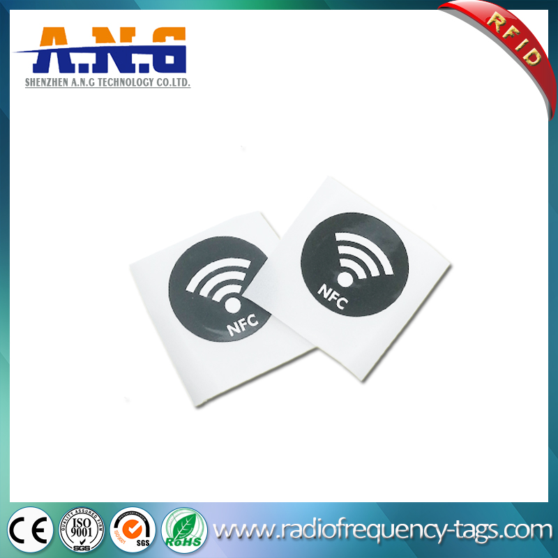 13.56MHz Hf ISO14443A RFID Circular Sticker NFC Printed Label