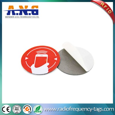 Paper Surface High Frequency NFC Tags RFID Label Tag