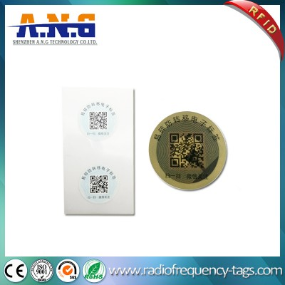 13.56MHz Disposable Self Adhesive NFC Tag Fragile Label
