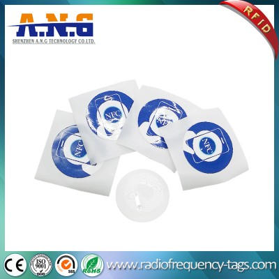 NFC Stickers Ntag213 Round Diameter 22mm Hf RFID Tags