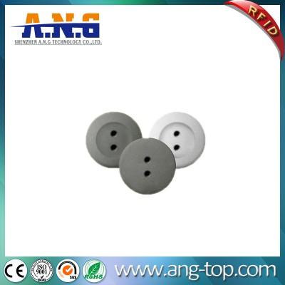 ABS a forma di Tag RFID HF pulsante per indumenti con NTAG 213 Chip
