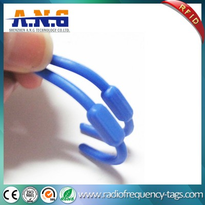 Silicone Flexible Spring Laundry UHF Tag for Clothing Management