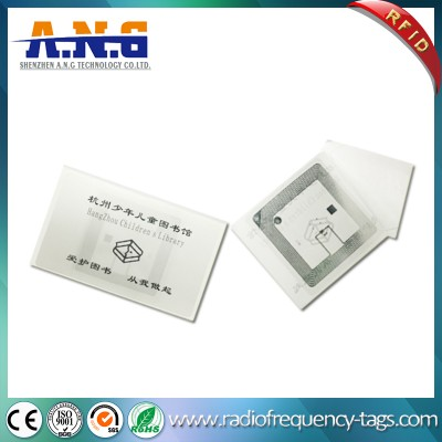 ISO14443A Hf RFID Library Label Tag with Logo Printing