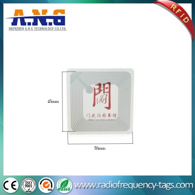 13.56MHz I Code Sli NFC Printed Sticker Tag RFID Library Label