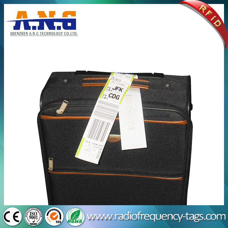 860~960MHz Monza 4 UHF RFID Baggage Case Sticker Tag for Airport